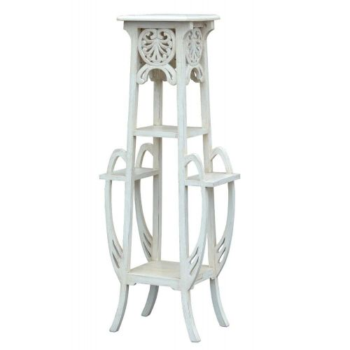 Art Nouveau French White Plant Stand